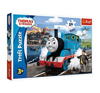 Puzzle Trefl Maxi happy Thomas day, 24 piese