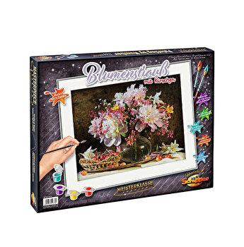 Kit pictura pe numere Schipper - Explozie de culoare cu flori si cirese