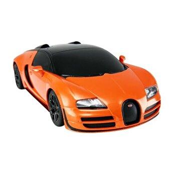 Masina cu telecomanda Bugatti Grand Sport Vitesse, portocaliu, scara 1 la 24