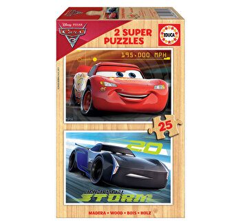 Puzzle Cars 3, 2 x 25 piese