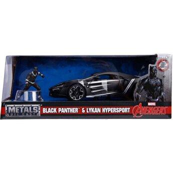 Masinuta Avengers Lykan Hyoersport, Black Panther, scara 1:24