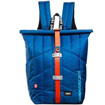 Rucsac Zipit Puffer Premium - albastru cu banda rosie