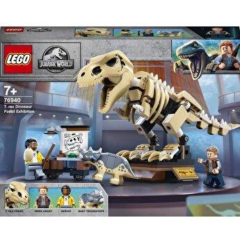 LEGO Jurassic World - Expozitia fosilei dinozaurului T-Rex 76940