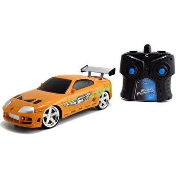 Masinuta metalica cu telecomanda Fast and Furious - RC Brian's Toyota, scara 1:24