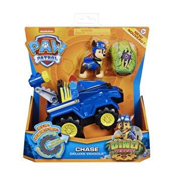 Patrula Catelusilor, Set vehicul cu catelus Chase si figurina Dino surpriza
