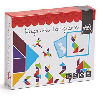 Puzzle magnetic educativ din lemn - Tangram