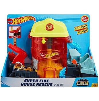 Set de joaca Hot Wheels - Statia de pompieri