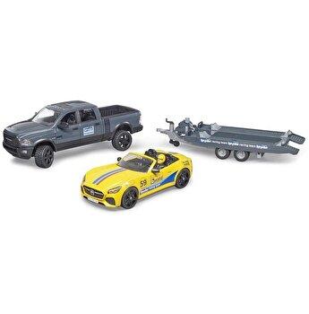 Jucarie Bruder, Leisure Time - Masina de teren Ram 2500 si masina de curse Roadster
