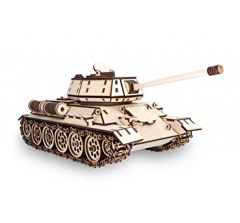 Puzzle 3D Eco Wood Art Tank T-34, 600 piese