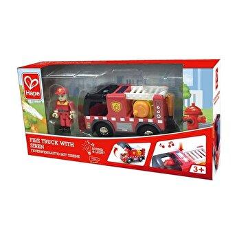 Masina de pompieri cu sirena