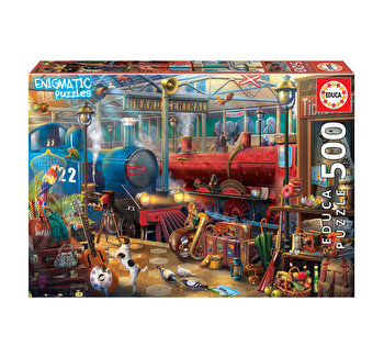 Puzzle Mysterious Puzzle Train Station, 500 piese
