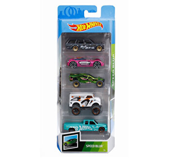 Set 5 masini, Hot Wheels Speed Blur