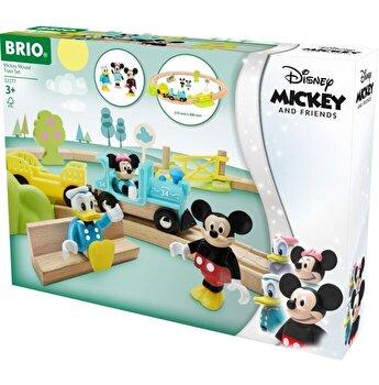 Set din lemn Brio - Tren Mickey Mouse