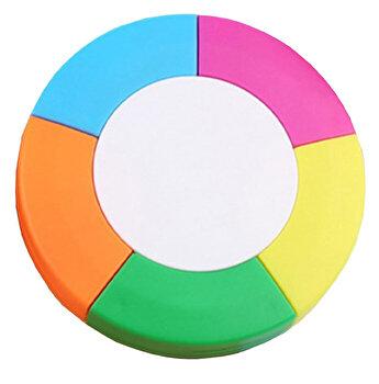 Marker de colorat, 5 capete cu 5 culori, in forma de Ozn
