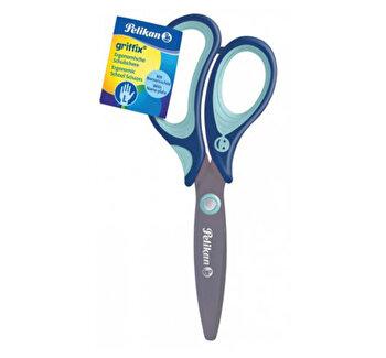 Foarfeca Griffix pentru stangaci cu maner de plastic, albastru, 14 cm
