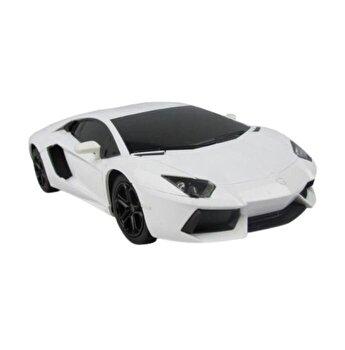 Masina cu telecomanda Lamborghini Aventador, alb, scara 1 la 24