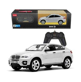 Masina cu telecomanda BMW X6, alb, scara 1 la 24