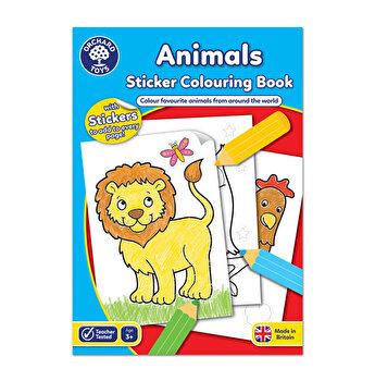 Carte de colorat cu activitati in limba engleza si abtibilduri - Animale