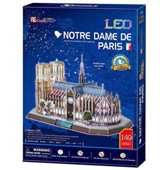 Puzzle 3D Led - Notre Dame, 149 piese