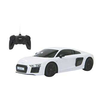 Masina cu telecomanda Audi R8 alb cu scara 1:24