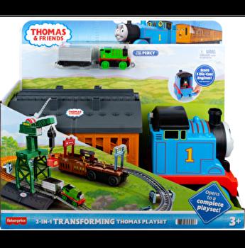 Thomas & Friends - Set motorizat Pista cu macara si obstacole