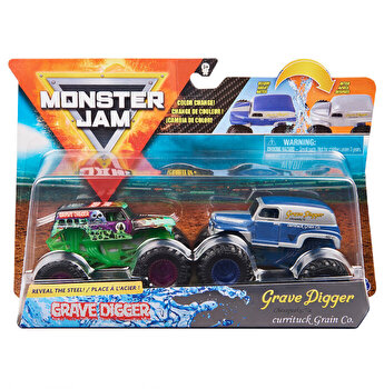 Monster Jam, Set 2 masinute Grave Digger si Grave Digger Chesapeake, color change