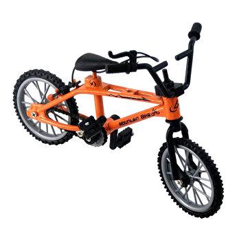 Mini Bicicleta Finger Bike, jucarie antistres pentru deget, 11 x 8 x 2 cm, portocaliu
