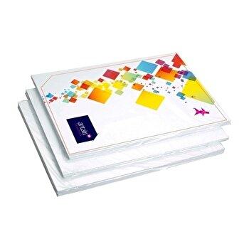Carton dublu cretat, A4, alb lucios, 250 g/mp, 50 coli/top