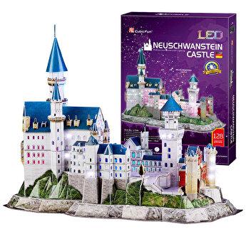 Puzzle 3D Led - Castelul Neuschwanstein, 128 piese
