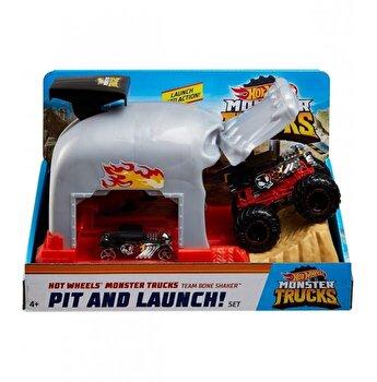 Set de joaca Hot Wheels - Lansatorul monster truck, Craniul