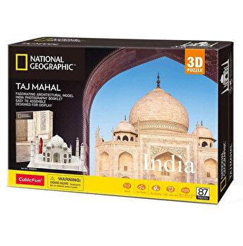 Puzzle 3D + Brosura Taj Mahal, 87 piese