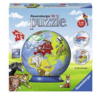 Puzzle 3D Globul Pamantesc, 72 piese
