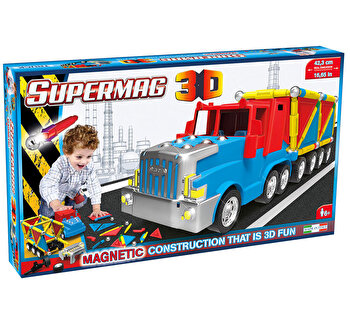 Supermag 3D - Jucarie cu magnet Camion, 126 piese