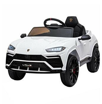 Masinuta electrica Lamborghini cu telecomanda, alb