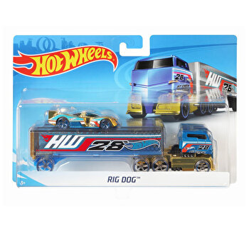 Set camion si masina sport, Hot Wheels Rog Dog