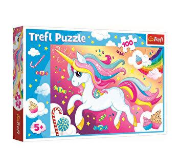 Puzzle Trefl frumosul unicorn, 100 piese