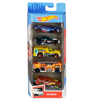 Set 5 masini, Hot Wheels Rescue