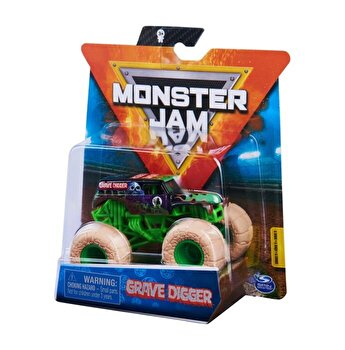 Monster Jam, masinuta metalica scara 1 la 64 Grave Digger