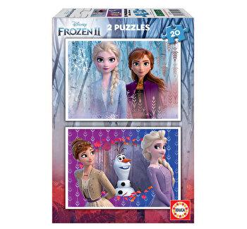 Puzzle Frozen 2, 2 x 20 piese
