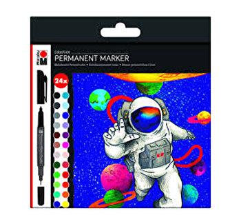 Set 24 markere permanente Graphix Marabu