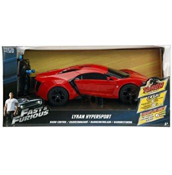 Masinuta metalica cu telecomanda Fast and Furious - RC Lykan Hypersport, scara 1:16