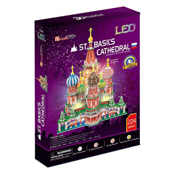 Puzzle 3D Led - Catedrala St. Basil, 224 piese