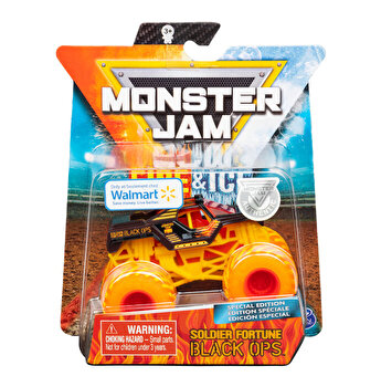 Monster Jam, macheta metalica Fire and Ice - Persoajul soldier Fortune Black Ops