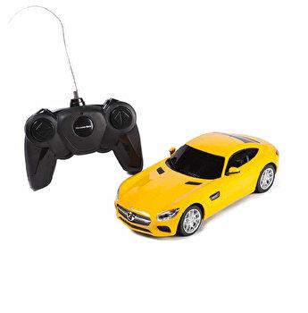Masina cu telecomanda Mercedes AMG GT, galben, scara 1 la 24