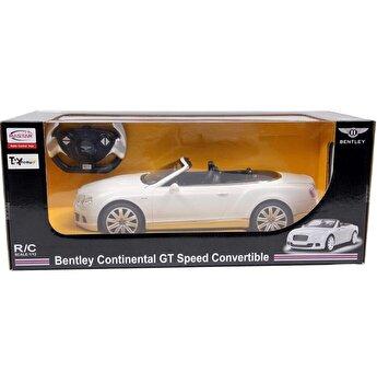 Masina cu telecomanda Bentley Continental GT, alb, scara 1 la 12