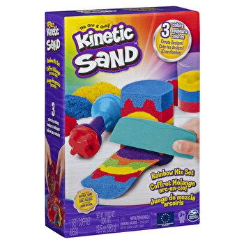 Kinetic Sand, set unelte de curcubeu si accesorii