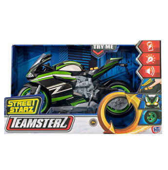 Motocicleta de curse cu lumina si sunet - Teamsterz