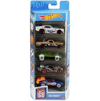 Set 5 masini, Hot Wheels Sports