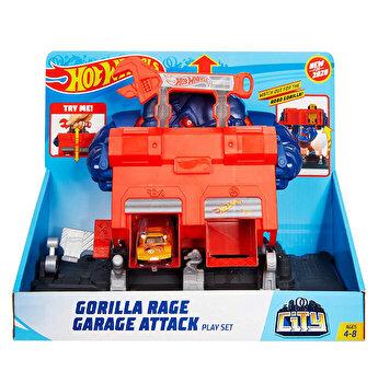 Set de joaca Gorila garaj, Hot Wheels