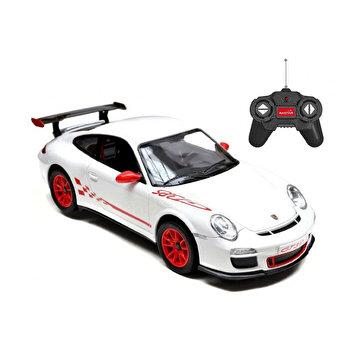 Masina cu telecomanda Porsche GT3 RS, alb, scara 1 la 24